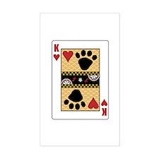 King Mutt Rectangle Decal