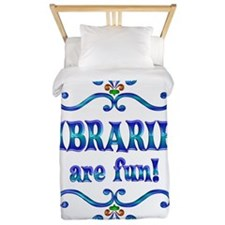 Libraries are Fun Twin Duvet