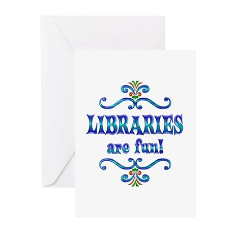 Libraries are Fun Greeting Cards (Pk of 10)