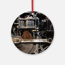 Steam Locomotive wheels Round Ornament