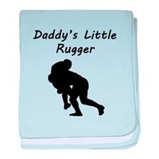 Daddys Little Rugger baby blanket