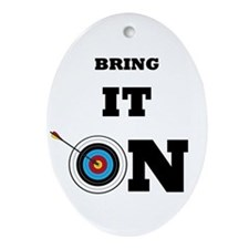 Bring It On Archery Target Ornament (oval)