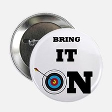 """Bring It On Archery Target 2.25"""" Button"""