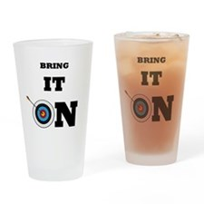 Bring It On Archery Target Drinking Glass