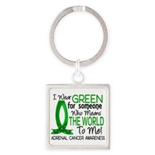 Means World to Me 1 Adrenal Cancer Square Keychain