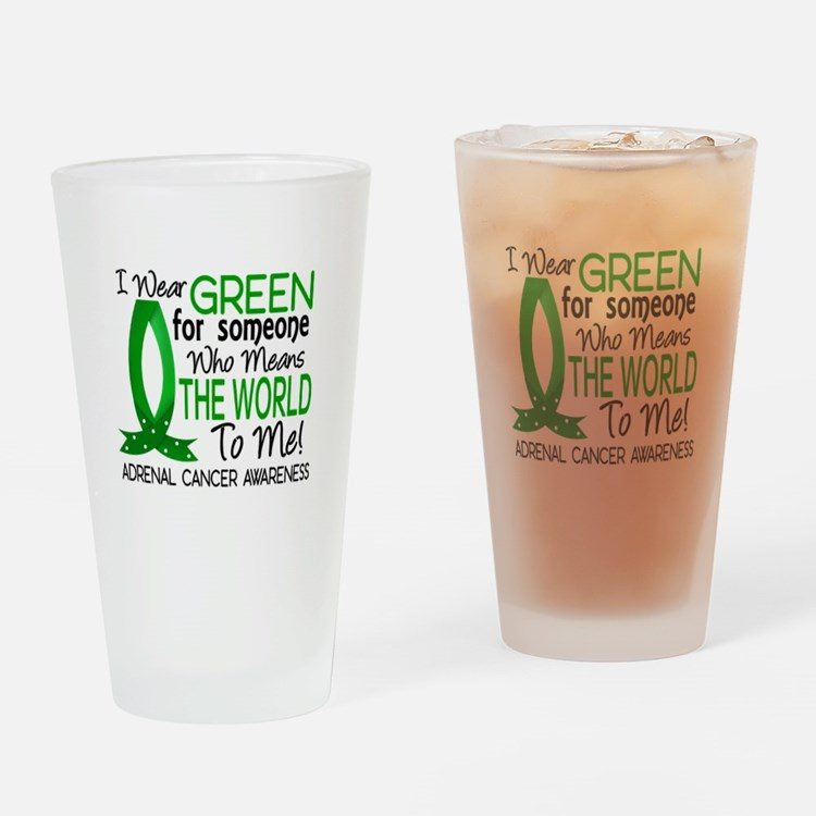 Means World to Me 1 Adrenal Cancer Drinking Glass