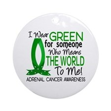 Means World to Me 1 Adrenal Cance Ornament (Round)