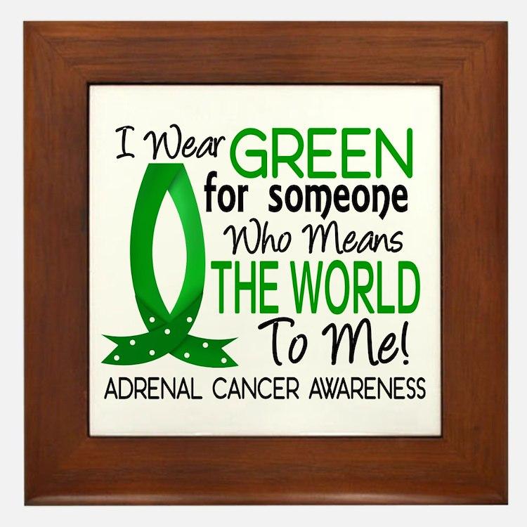 Means World to Me 1 Adrenal Cancer Framed Tile