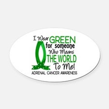 Means World to Me 1 Adrenal Cancer Oval Car Magnet