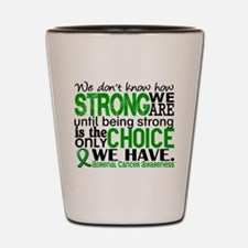 How Strong We Are Adrenal Cancer Shot Glass