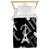 Black paris Duvet Covers