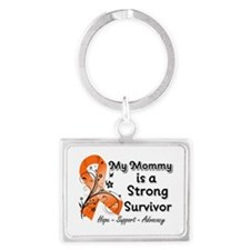 Mommy Strong Survivor Landscape Keychain