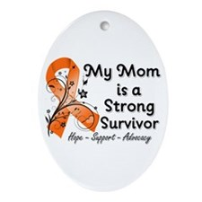 Mom Strong Survivor Ornament (Oval)