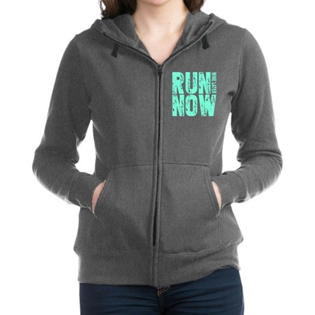 Run Now Wine Later Zip Hoodie