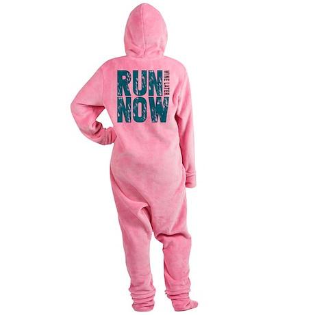 Run Now Wine Later Footed Pajamas
