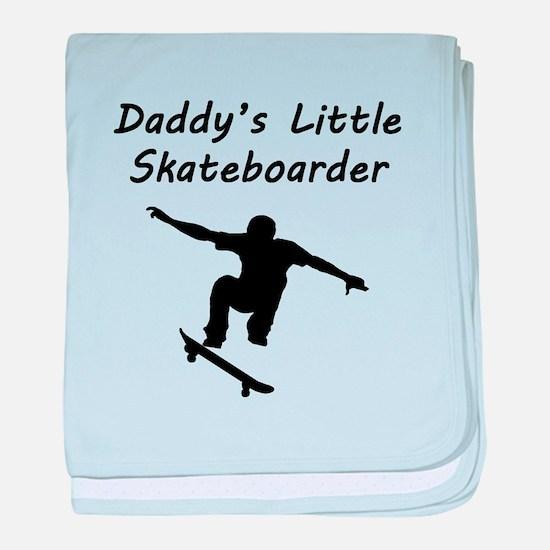 Daddys Little Skateboarder baby blanket