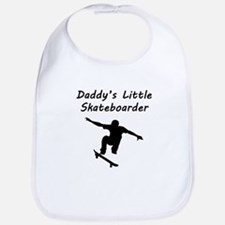 Daddys Little Skateboarder Bib
