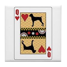 Queen Pointer Tile Coaster