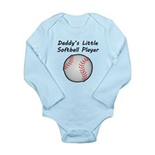 Daddys Little Softball Player Body Suit