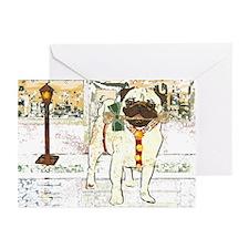 Peaceful Season Pug Christmas Cards (6)