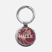 Haole Round Keychain