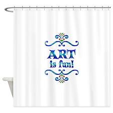 Art is Fun Shower Curtain
