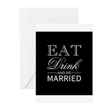 Eat Drink & Be Married Greeting Cards (Pk of 10)