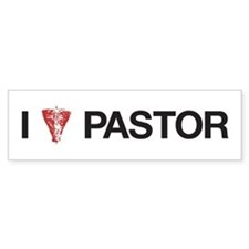 I Love Pastor Bumper Bumper Sticker