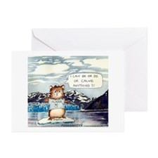 """Abrahamster in Alaska Greeting Cards -10p 5X7"""""""