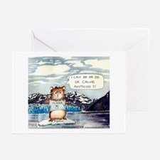 Abrahamster in Alaska Greeting Cards -10p 5X7""