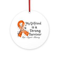 Girlfriend Strong Survivor Ornament (Round)