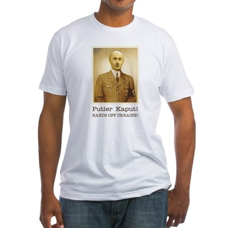 Putin Hitler Fitted T-Shirt