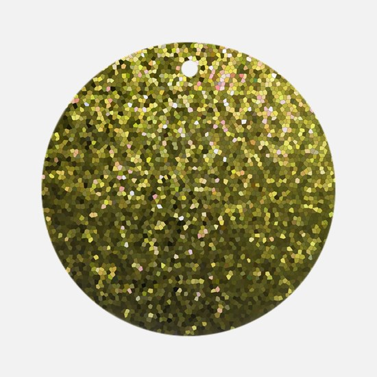 Gold Mosaic Sparkley 1 Ornament (Round)
