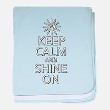 Keep Calm and Shine On baby blanket