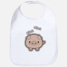 Cute Pink Pig Oink Bib