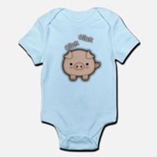 Cute Pink Pig Oink Body Suit