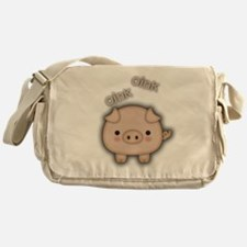 Cute Pink Pig Oink Messenger Bag