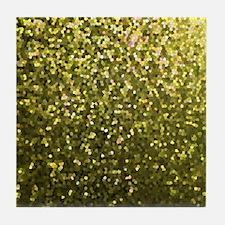 Gold Mosaic Sparkley 1 Tile Coaster