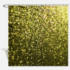 Gold Mosaic Sparkley 1 Shower Curtain