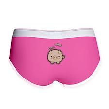 Cute Pink Pig Oink Women's Boy Brief