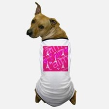 Trendy Pink + White I LOVE PARIS Dog T-Shirt