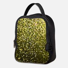 Gold Mosaic Sparkley 1 Neoprene Lunch Bag