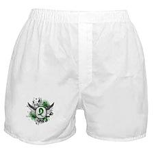 Grunge Ribbon Wings Adrenal Cancer Boxer Shorts