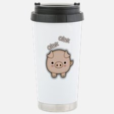 Cute Pink Pig Oink Travel Mug