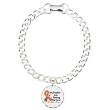 Daughter Strong Survivo Charm Bracelet, One Charm