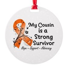 Cousin Strong Survivor Ornament
