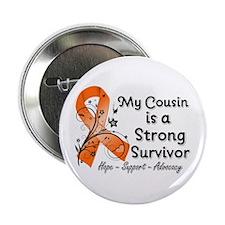 """Cousin Strong Survivor 2.25"""" Button"""
