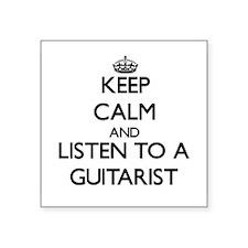 Keep Calm and Listen to a Guitarist Sticker