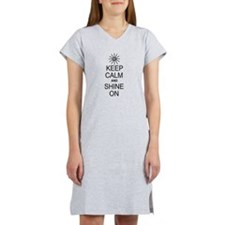 Keep Calm and Shine On Women's Nightshirt