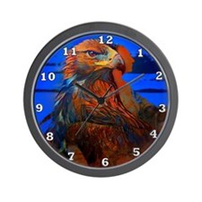 Hawk Medicine Wall Clock